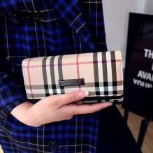 Luxury-British-Lattice-Women-Long-Wallet-Classic-Plaid-PU-Leather-Hasp-Clutch-Ladies-Brand-new-Design